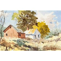 Edward Garbely 1908-1999 American Watercolor Paper