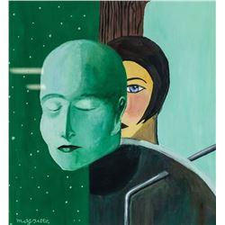 Style of Rene Magritte Belgian Gouache on Paper
