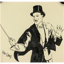 Phil Davis American Pop Art Ink on Paper 1940