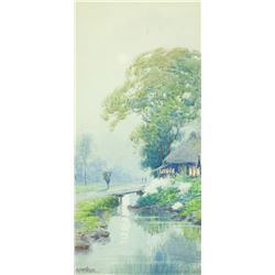 Japanese Watercolour Paper Signed w. Provenance