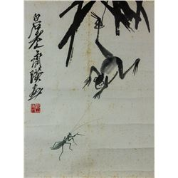 Qi Baishi 1864-1957 Chinese Ink on Paper Roll