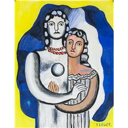 Fernand Leger French Cubist Gouache on Paper