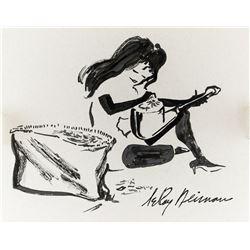 LeRoy Neiman US Pop Art Ink Femlin Provenance
