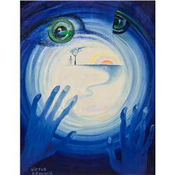 Victor Brauner Romanian Surrealist Oil on Canvas