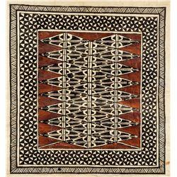 Unknown Artist Ink on Papyrus Geometric Pattern