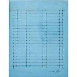 Agnes Martin American Abstract Graphite on Board