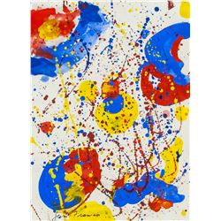 Sam Francis American Abstract Acrylic on Paper