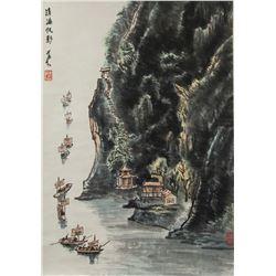 Li Keran 1907-1989 Chinese Watercolor Landscape