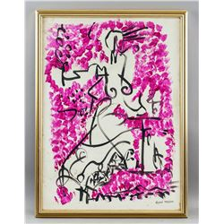 Andre Masson French Surrealist Oil on Canvas