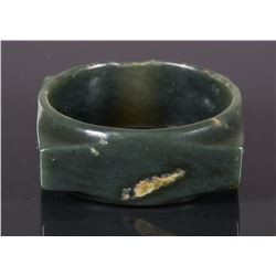 Chinese Green Jade Carved Cong