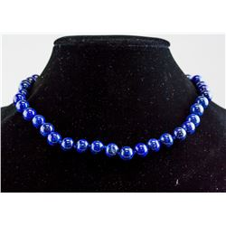 Sterling Silver Lapis Lazuli Necklace RV $300