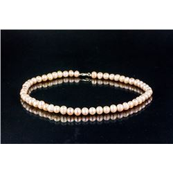 Chinese Pink Pearl Necklace