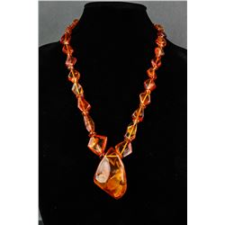 Chinese Fine Large Amber Necklace