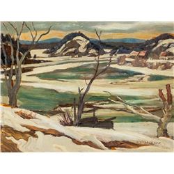 A Y Jackson Canadian Oil on Panel Landscape