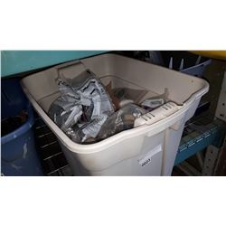 TOTE OF RESPIRATOR MASKS AND FILTERS