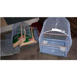 2 NEW BIRD CAGES AND BEDDING RETAIL $100