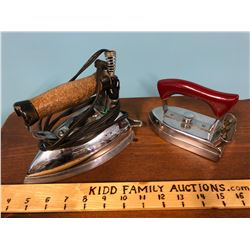 PAIR OF VINTAGE ELECTRIC STEAM IRONS