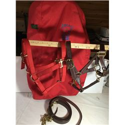 GR OF 4, HORSE BAG, LEATHER HARNESS, LEAD