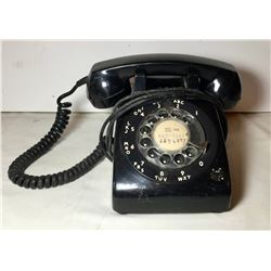 VINTAGE TRADITIONAL BLACK ROTARY DIAL PHONE