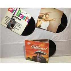 VINYL RECORDS, ROGERS & HAMMERSTEIN'S OKLAHOMA, RORY MUSIC'S FLESH & BLOOD, EARL GRANTS GREATEST HIT