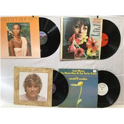 4 VINYL RECORDS, WHITNEY HOUSTON, ANNE MURRAY, SOUNDS OF SUNSHINE, PERCY SLEDGE