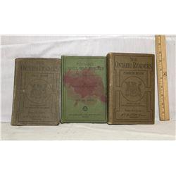 GR OF 3, 1909 ONTARIO READERS & 1906 ONTARIO SPELLER