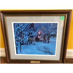 """'STRATEGY IN THE SNOW' PRINT BY MORTI KUNSTLER - 16"""" X 18"""""""