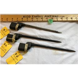 GR OF 3 NO 4 MK II BAYONETS WITHOUT SCABBARDS