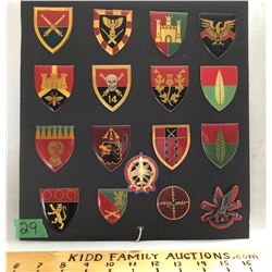 GR OF 17 ARMY BADGES