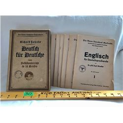 GR OF 6, WWII GERMAN MANUALS WITH SWASTIKA - 1943