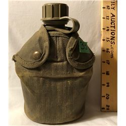 PLASTIC CANTEEN WITH CANVAS COVER