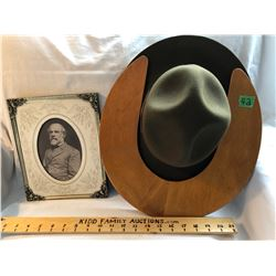 GR OF 2, MILITARY PHOTO AND VINTAGE SCOUT HAT WITH ORIGINAL FORM