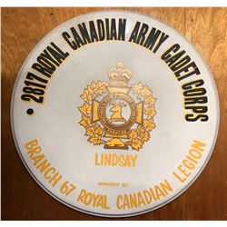 ARMY CADET CORPS DRUM SKIN, APPROX 3' - LINDSAY