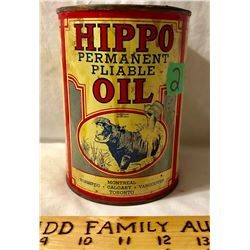 HIPPO OIL TIN, 1 QT. ACME PAINT & VARNISH CO - TORONTO