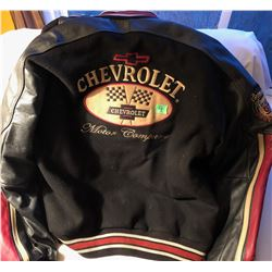 CHEVROLET MEN'S XL LEATHER / WOOL JACKET - NEW