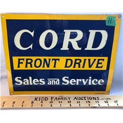 TIN CORD SIGN - DESPERATE SIGN CO - WADSWORTH