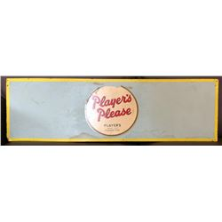 "PLAYER'S CIGARETTES SIGN - PRESS BOARD - 14"" x 5.5"""