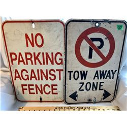 GR OF 2, NO PARKING SIGNS