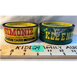 GR OF 2, SIMONIZ 11 OZ TINS - FULL