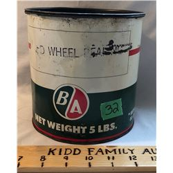 BA 5 LBS WHEEL GREASE TIN