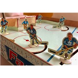 EAGLE TOYS, TORONTO. VINTAGE TABLE TOP TIN HOCKEY GAME. TORONTO VS MONTREAL.