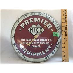 PREMIER EQUIPMENT, THERMOMETER - PAM CLOCK CO 1963 - NY