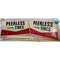 SET OF 2 PEERLESS TIRES SST SIGNS