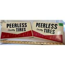 SET OF 2 PEERLESS TIRES SST SIGNS