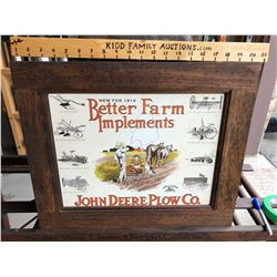 FRAMED JOHN DEERE 1913 IMPLEMENTS PRINT