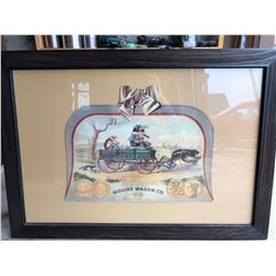 FRAMED MOLINE WAGON CO.  AD