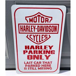 HARLEY-DAVIDSON PARKING SIGN