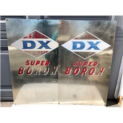 GR OF 2, DX SUPER BORON ALUM SIGNS