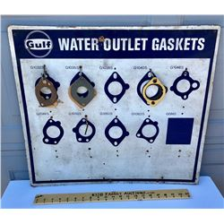 GULF PRESS BOARD GASKETS SIGN