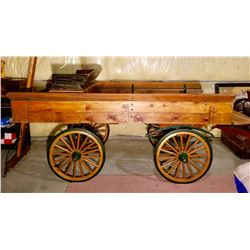 ANTIQUE HORSE DRAWN GROCERY DELIVERY WAGON